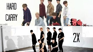 GOT7 | Hard Carry 2x Faster (Weekly Idol vs. Dance Practice) width=