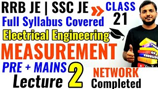 RRB JE ELECTRICAL ENGINEERING CLASSES lec 02 | MEASUREMENT LECTURES| SSC JE |GATE UPSSSC|UPPCL
