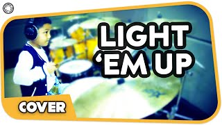 My Songs Know What You Did In The Dark (Light em up) Drum Cover by Sirhan, 9 years old