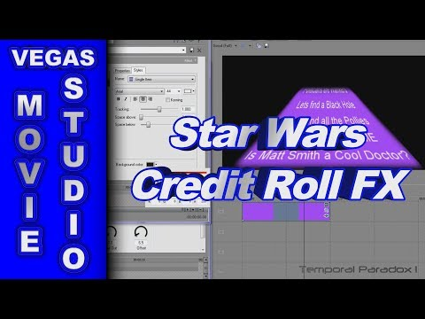 how to add credits in sony vegas