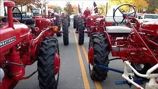 Quick walk through of the IH RED tractors at the Raleigh Christmas parade