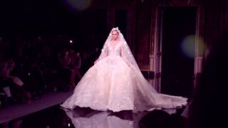 Ziad Nakad gowns during Paris Fashion Week