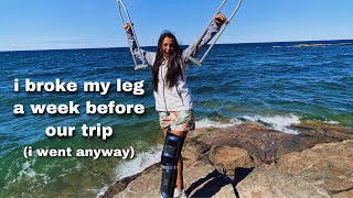 ROAD TRIP WITH A BROKEN LEG | Vlog 3 | Michigan's UP