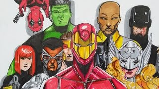 Civil War 2: Marvel Drawing Black Widow, Hulk, Deadpool