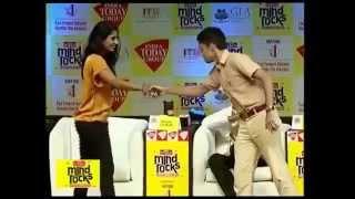 India Today Mind Rocks 2014: Mithali Raj Dancing on the Mind rocks Delhi stage