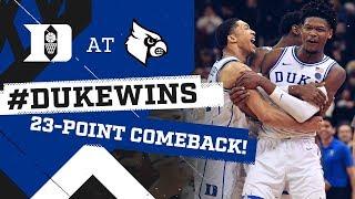 Duke Basketball: Historic Comeback at Louisville! (2/12/19)