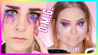 I TRIED FOLLOWING A SIMPLY NAILOGICAL MAKEUP TUTORIAL... WOW! width=