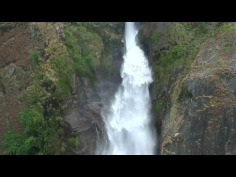 Beautiful waterfall at Chamche Nepal