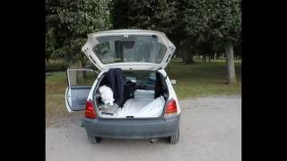 Sleeping in a small car, How to do it.. Toyota width=