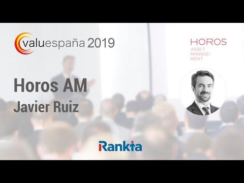 """Conferencia de Javier Ruiz de Horos AM en VALUESPAÑA 2019 que tuvo lugar el pasado 4 y 5 de Abril. Este evento tiene como objetivo de divulgar el """"Value Investing"""" a través de ponencias de calidad ofrecidas por una cuidadosa selección de los mejores inversores."""