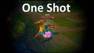 LoL Best Moments #166 Galio one shot 4 man (League of Legends)