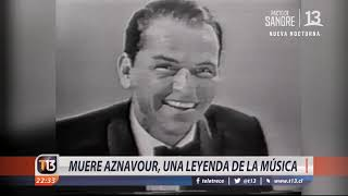 Muere Aznavour, una leyenda de la música