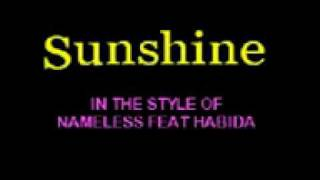 Sunshine By Nameless Feat Habida with Lyrics Cloudnine Sing Along Video
