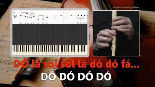 Sorry  Justin Bieber  Karaoke das notas para flauta  Educação Musical