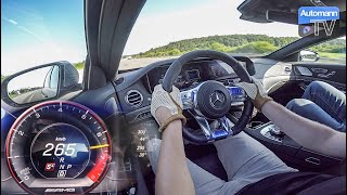 2018 Mercedes-AMG S63 (612hp) - 0-265 km/h RACE START (60FPS)