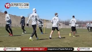 Chicago Fire entrena a tres del partido inaugural en el Toyota Park
