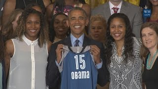President Obama Welcomes the 2015 WNBA Champion Minnesota Lynx