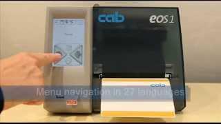 Cab EOS - drukarki etykiet z panelem dotykowym