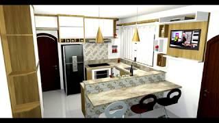 Projeto 3D de interiores a partir de R$ 20,00 por ambiente