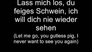 Oomph! - Ich will dich nie mehr sehen (Lyrics w/ English Translation)