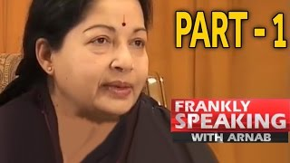 Frankly Speaking With J Jayalalithaa -1 | Arnab Goswami Exclusive Interview width=