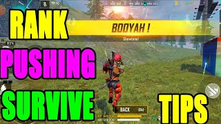 Rank pushing Tips and tricks|| Free fire survival tips and tricks|| Rank booyah tips || Run gaming