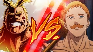 ESCANOR VS ALL MIGHT RAP (NANATSU NO TAIZAI / BOKU NO HERO) | BATALLA DE RAP | 2018 | AdloMusic