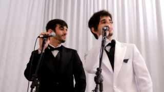Junior e Marconi interpretando Foi Deus de Edson e Hudson, banda Som que toca.