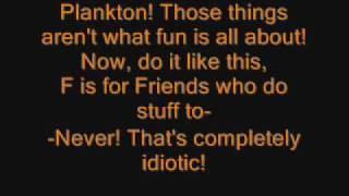 Spongebob FUN song with lyrics