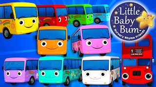 Ten Little Buses   Part 3   Nursery Rhymes   By LittleBabyBum!   ABCs and 123s
