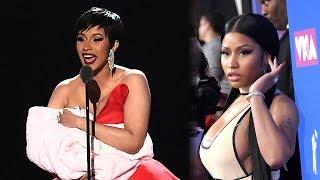 Cardi B DISSES Nicki Minaj & TROLLS Audience With Fake Baby at 2018 MTV VMAs