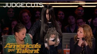 The Sacred Riana Summons A Terrifying Imaginary Friend - America's Got Talent 2018 width=