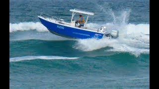 Smashing up the Maroochy bar in a WAVERIDER 610