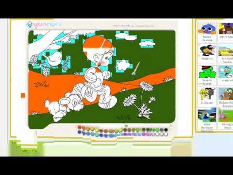 Sporcu çocuk Boyama Oyunu