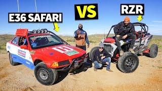 $350 BMW E36 Turned Safari Car Gets Shredded in the Desert #Sickcar