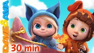 🐞 Row, Row, Row Your Boat + More Nursery Rhymes and Kids Songs | Dave and Ava 🐞