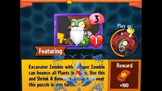 Puzzle Party !!! Daily Event 21 st  March 2018 Plants vs Zombies Heroes Day 2