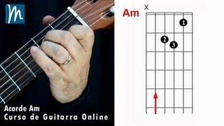 Acordes de guitarra:  La menor - Am