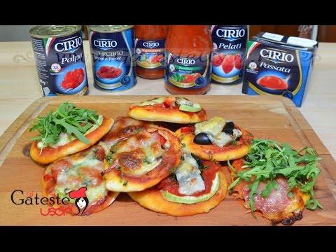 Reteta de Mini Pizza cu Passata de Rosii CIRIO