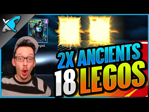 *18 LEGENDARIES*... INSANE LUCK !? | 2X Ancient Shards Highlights! | RAID: Shadow Legends