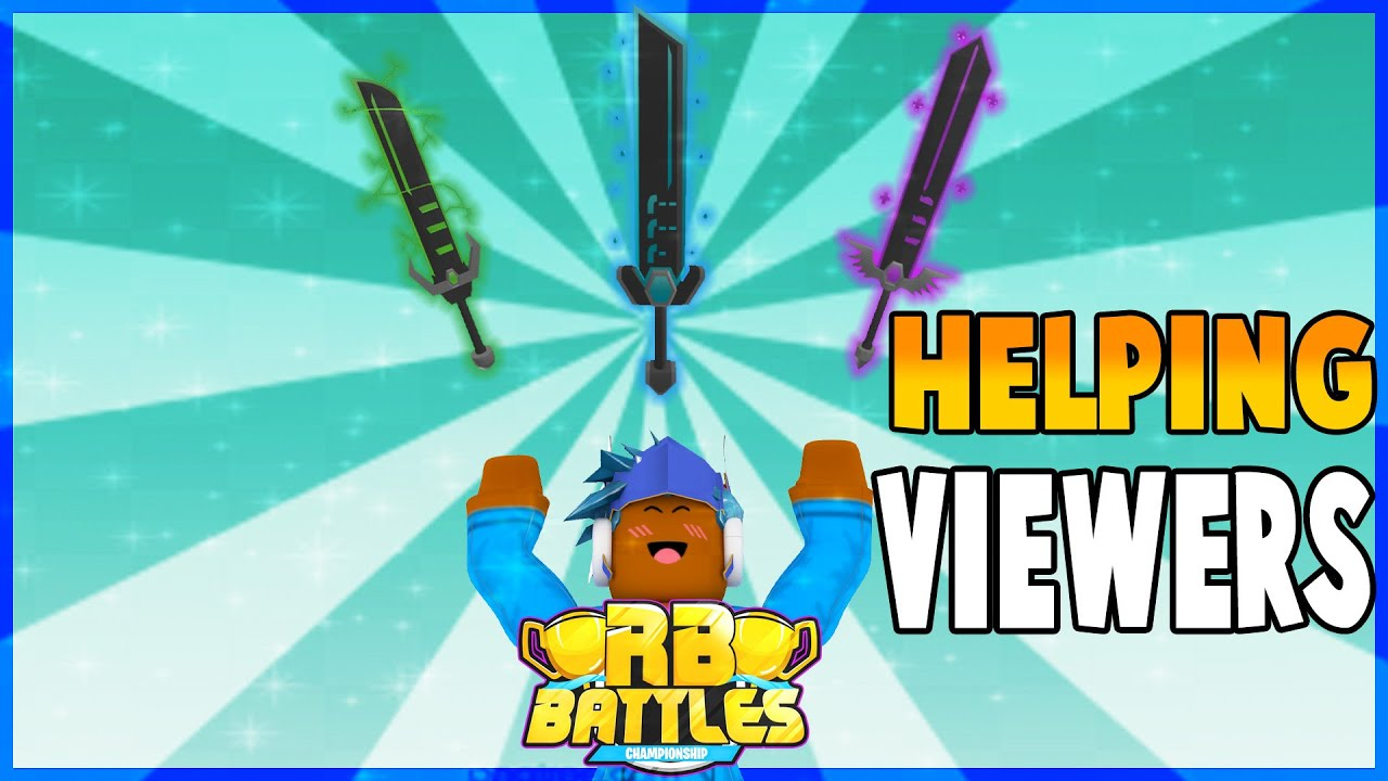 Godthegamer - 🔴RB BATTLE SWORDS Helping Viewers Get ALL The Swords| ROBUX GIVEAWAY| Roblox Live Stream🔴