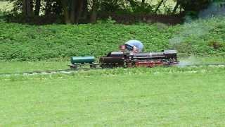 model parní lokomotivy 475.111 v Podhradí pod Zvířeticemi