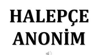 Halepçe Anonim
