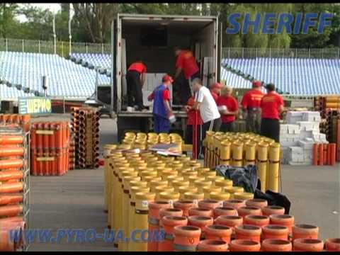 Preparation to fireworks show by Sheriff. may 11-15 2010 Dnipropetrovsk