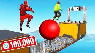 FINISH FIRST To WIN 100,000 V-Bucks! (Fortnite 150 LEVEL Deathrun)