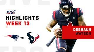 Deshaun Watson Puts on a Show vs. Patriots!   NFL 2019 Highlights