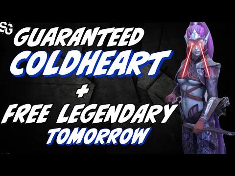 Free COLDHEART tomorrow & 2for1 Sacred legendary for 48hrs. RAID SHADOW LEGENDS