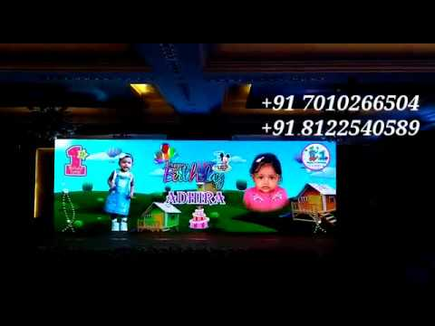 LED Screen Video Wall Stage Backdrop | Birthday Stage Decoration India +91 81225 40589 (WA)