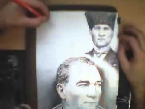 ATATÜRK Portresi Karakalem Çalışması... Süper...