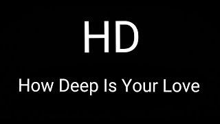 Calvin harris & Disciples - how deep is your love (HD remix)